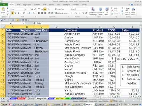 data analysis in excel 2010 pdf