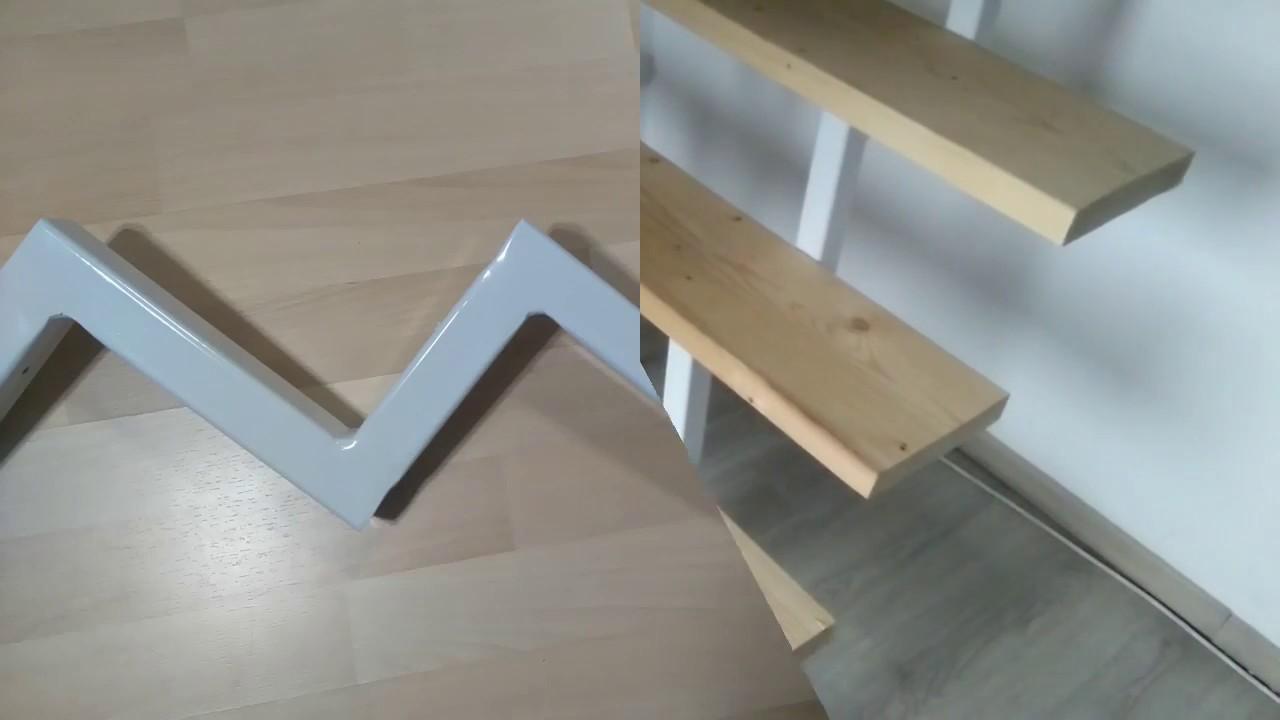 Eine Treppe Aus Holz Und Metall Selber Bauen Machen