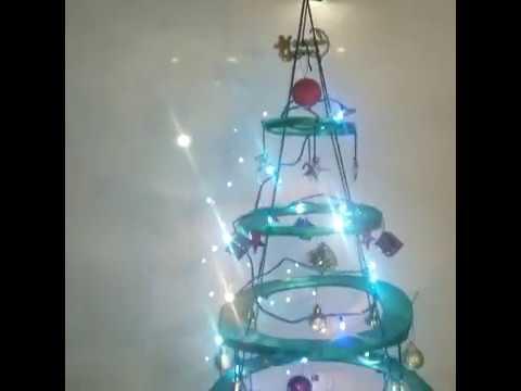 homebliss diy hanging christmas tree