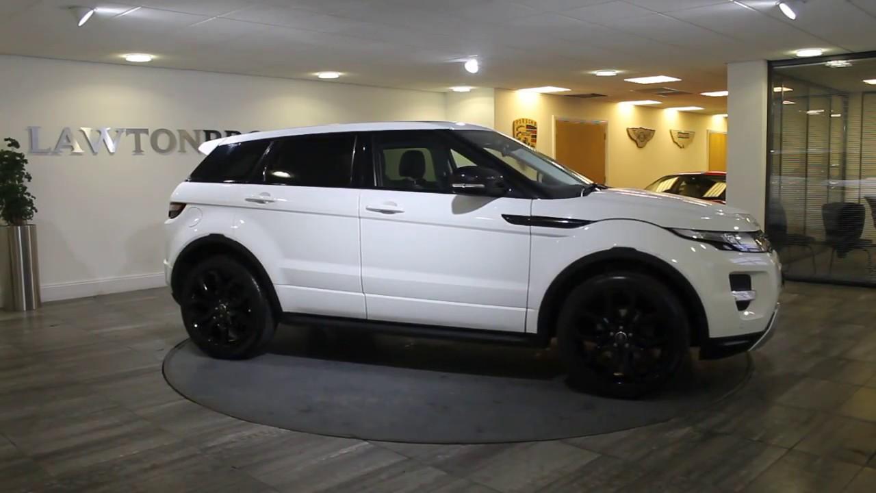 Range Rover Evoque White with Black Lawton Brook - YouTube