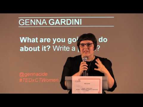 What are you going to do about it? Write a poem? Genna Gardini at TEDxCapeTownWomen