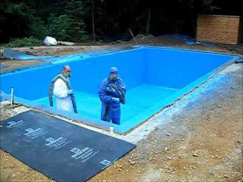 Spray On Pool Liner Maclennan Polyprufe Pool Liner  Youtube