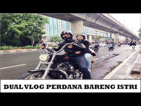 DUAL VLOG PERDANA BERSAMA ISTRI  #motovlog Indonesia