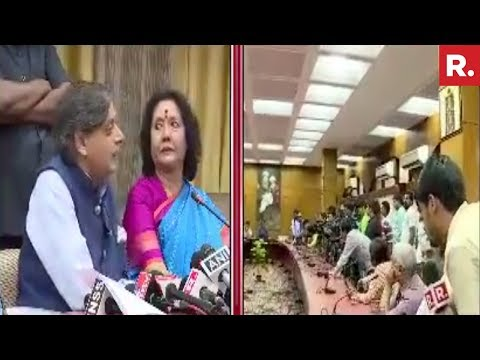 Shashi Tharoor Won't Take Republic TV's Questions?