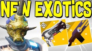 Destiny 2: NEW EXOTICS & RED DEATH HAND CANNON! New Energy Snipers, Secret Puzzless, & Exotics