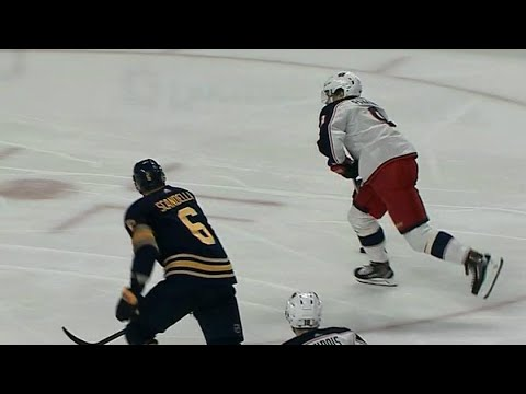 Panarin snipes one off post past Lehner to score