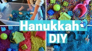 HANUKKAH TODDLER ACTIVITY - HOW TO MAKE RAINBOW RICE - Sensory Bin