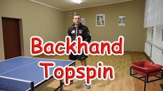 Nauka Backhand Topspin - Tenis stołowy