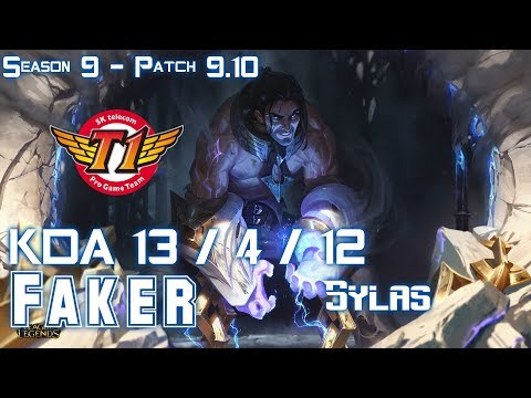SKT T1 Faker SYLAS vs AHRI Mid - Patch 9.10 KR Ranked