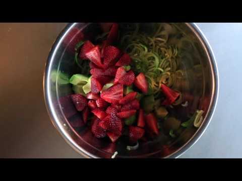 Cucumber, Avocado, and Strawberry Salsa