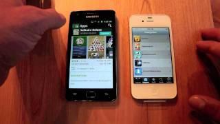 iPhone 4s vs Galaxy S II Market App Store test