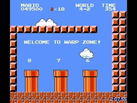 There's a new world record for fastest completion of Super Mario Bros.
