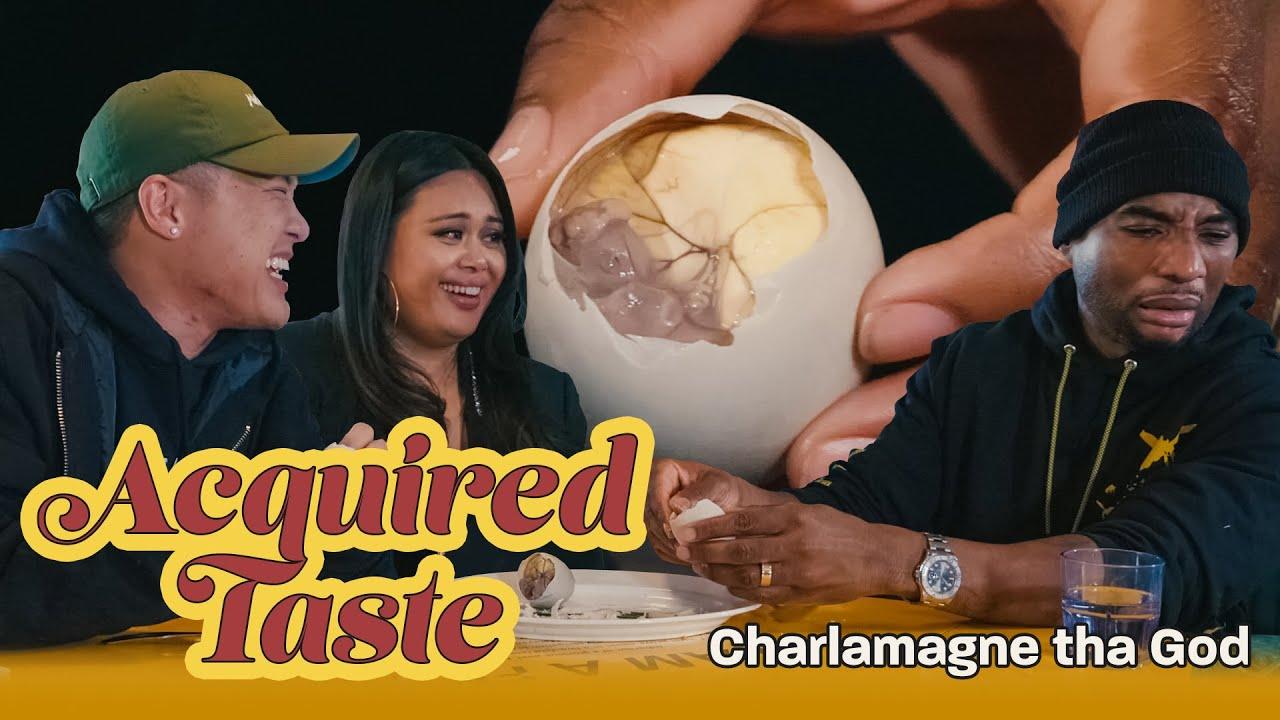 Tim Chantarangsu & Charlamagne Tha God Try Fertilized Duck Egg || Acquired Taste