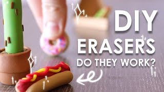 MAKE YOUR OWN ERASERS - Do They Work?