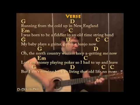 Wagon Wheel (Old Crow Medicine Show) Guitar Cover Lesson with Chords Lyrics