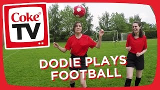 Can Dodie and Lucy become pro footballers? | #CokeTVMoment