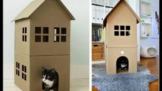 Красивые домики для кошек своими руками