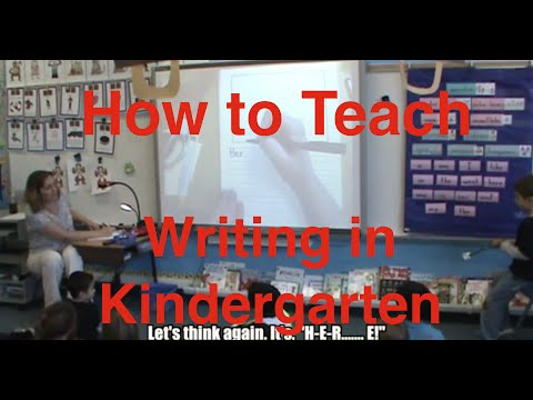 How to Teach Writing in Kindergarten