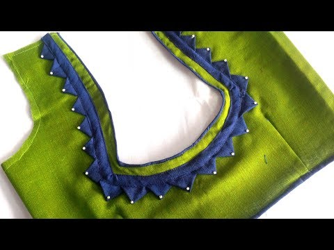 very easy and very simple blouse back neck designe cutting and stitching at home