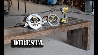 DiResta DEWALT® Recycled Wood Bench + Giveaway