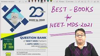 #BOOKS to be followed for #NEET MDS 2021 #Exam : #Dr Amit Lall, #DBMCI #MDS Experts