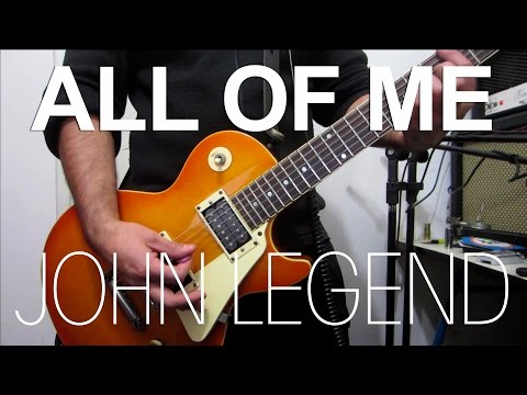 All of me - John Legend   electric guitar cover (instrumental & backing track)