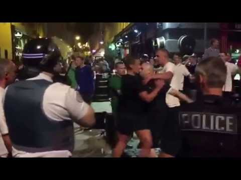 England Fans & Local Youths Clash In Marseille   Euro 2016