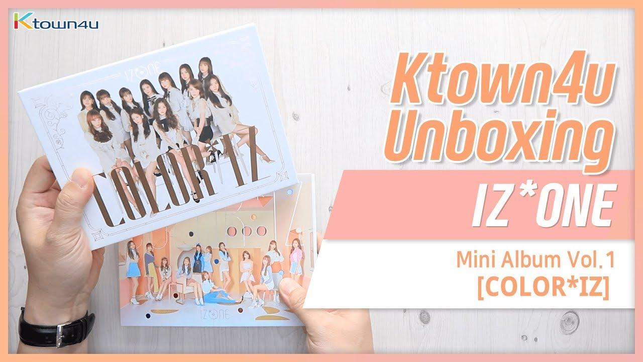 [Ktown4u Unboxing] IZ*ONE - 1st Mini album [COLOR*IZ] アイズワン 아이즈원 언박싱 IZONE