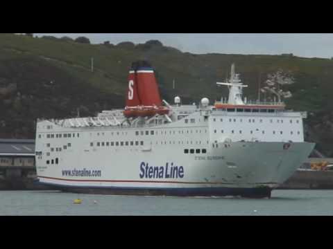 Stena Europe Fishguard Ferry U-turn (Very Windy Day)