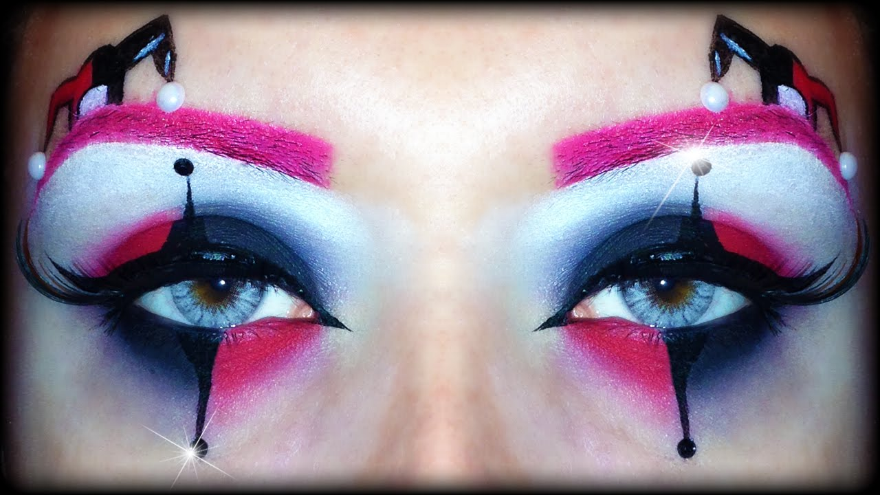 Harley Quinn Easy Halloween Makeup Tutorial Inspired By