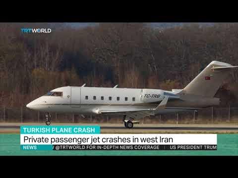 Turkish plane crashes in Iran