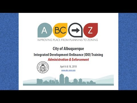 IDO Training: Administration & Enforcement