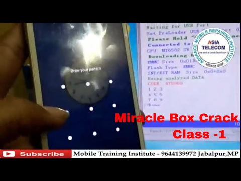 [Hindi/Urdu] Miracle Box Crack Class -1 | How to Read Mobile Lock | Mobile Unlocking | Asia Telecom