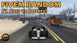 F1 Cars vs Dozers! - GTA FiveM Random More Racing Live #34