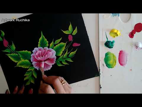 One Stroke Painting for Beginners | Acrylic Painting