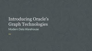 Oracle Graph Database Demo