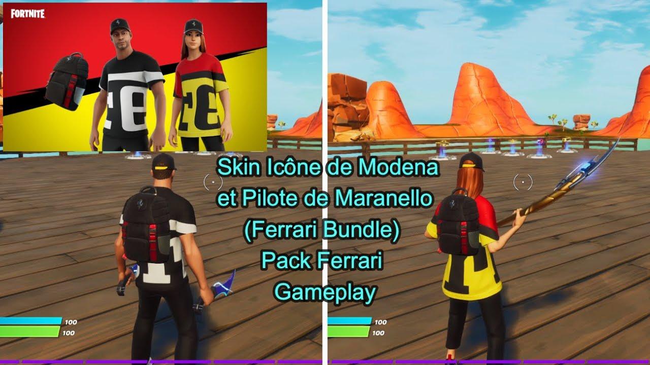 Skin Icône de Modena, Pilote de Maranello (Ferrari Bundle) Pack Ferrari Gameplay Fortnite