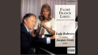 Sonata for Violin and Piano in A: III. Recitativo - Fantasia ben moderato molto lento