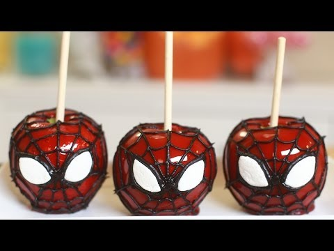 Get SPIDERMAN CANDY APPLES - NERDY NUMMIES Images