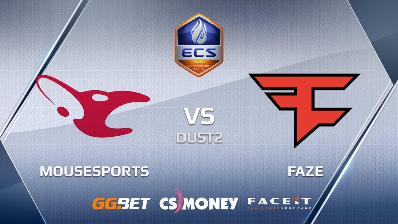 FaZe vs mousesports | Dust2 | ECS Season 6