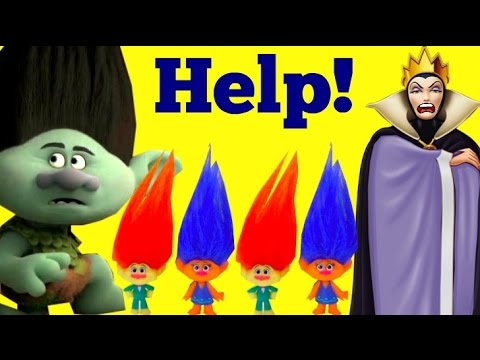 Dreamworks Trolls Movie, The Evil Queen makes the Baby Trolls Sad, Can Branch Make them Happy?