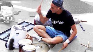 Damat - Amazing techno street  drummer