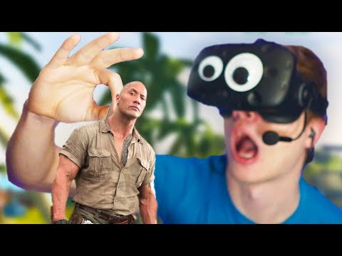JUMANJI IN VR - I'VE GOT A MINI ROCK!! (Jumanji VR with The Rock - HTC Vive)