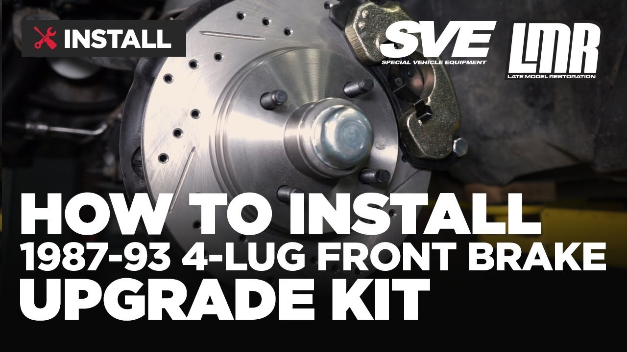 1979 1993 Fox Body Mustang Sve Front Brake Upgrade Kit Install System Related Parts Calipers Stainless Steel Sleeved Review