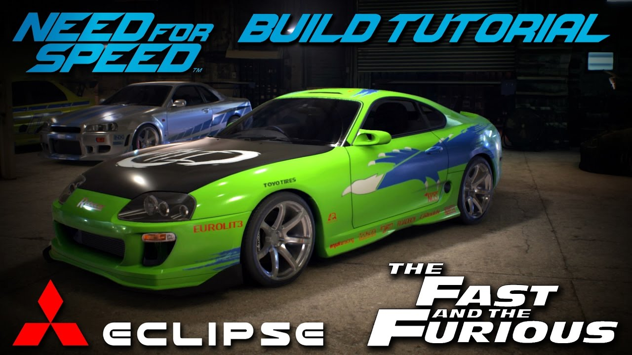 2016 Mitsubishi Eclipse >> Need for Speed 2015 | The Fast & The Furious Brian's Mitsubishi Eclipse Build Tutorial | How To ...