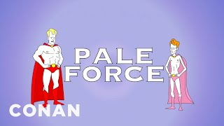 "Jim Gaffigan & Conan Reminisce About ""Pale Force""  - CONAN on TBS"
