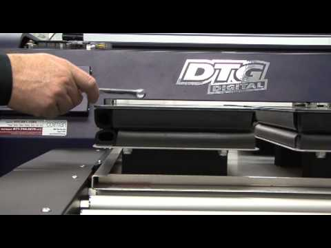 Viper DTG Printer Training Video - Setting Up Platens and Loading Machine