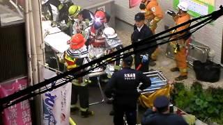2016 March 16 FIRE 三津屋商店街 Osaka Police 火災 Firetruck Japan 救急車