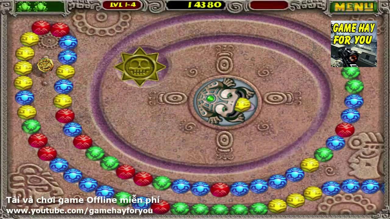 Game Zuma Deluxe – Chơi game Bắn vòng bi trên máy tính