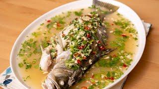 Siakap Stim Limau Ala Restoran Thai | Mudah Sangat dan Sedap